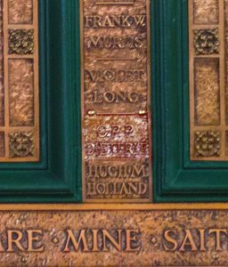 War Memorial. detail.Dieterle