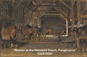 Women at the Remount Depot Pangbourne