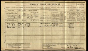 1911 Census.Hall