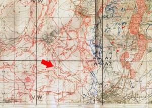ALBERT.BOUZENCOURT trench map
