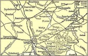 Area around Ypres Nov 1914