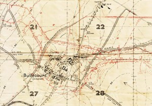 Bullecourt trench map extract