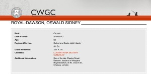 CWGC. Royal-Dawson.Casualty Details