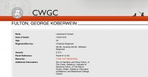CWGC - Casualty Details-Fulton