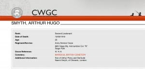 CWGC - Casualty Details-Smyth