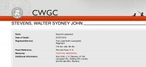 CWGC - Casualty Details-Stevens WSJ-1
