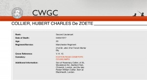 CWGC - Casualty Details- Collier
