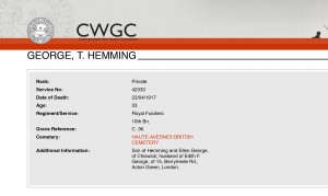 CWGC - Casualty Details- George