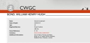 CWGC - Casualty Details.Bond