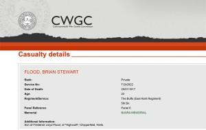CWGC - Casualty Details.Flood