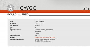 CWGC - Casualty Details.Gould A