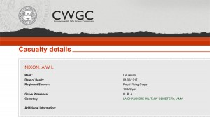 CWGC - Casualty Details.Nixon
