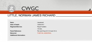 CWGC - Casualty Details. NJR Little
