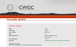CWGC - Casualty Details