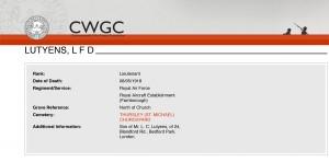 CWGC - Casualty Details - Lutyens-1