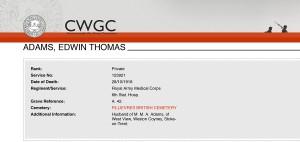 CWGC - Casualty Details ADAMS ET