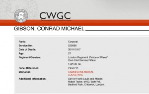 CWGC - Casualty Details Gibson