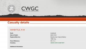 CWGC - Casualty Details Haybittle
