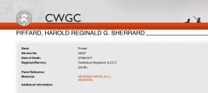 CWGC - Casualty Details Piffard