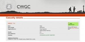 CWGC - Casualty Details Weir TH