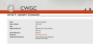 CWGC Casualty Details.Wyatt
