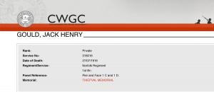 CWGC JH Gould