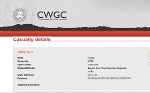 CWGC Register.ROW ND