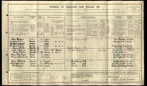 Census 1911.Clerk