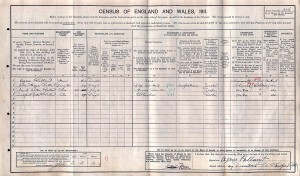 Census 1911.Pallant