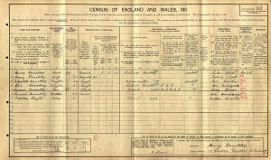 Census 1911. Dunckley