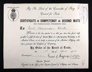 Clerk.2nd Mate Certificate