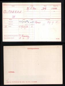Clitheroe Medal Card30850 A000338-01534