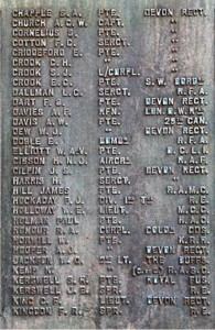 DAWLISH WAR MEMORIAL 1914 - 1918