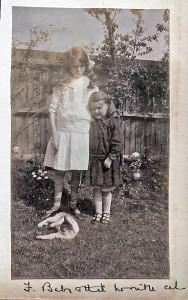 Felicite & 22Baby22. in garden Abinger Road 1915