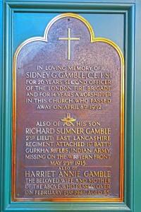 GAMBLE family memorial