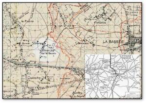 Givenchy la Bassee WW1 map.comp