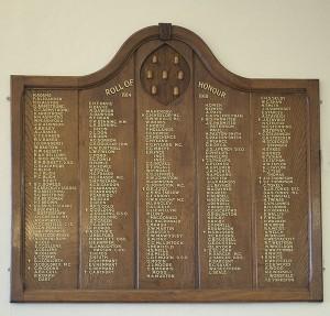 Honour Board Sevenoaks