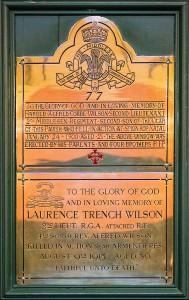 L Wilson mem. plaque