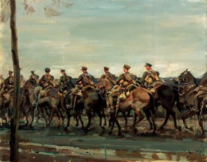 Ld Strathcona's Horse on the march - Munnings