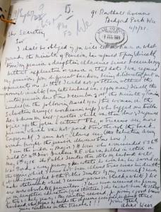 Letter from Widow 1921.Weir