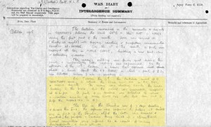 Liverpool regiment War diary Oct 1915