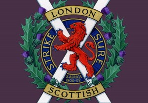 London Scottish badge