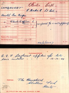 Longhurst Medal Card