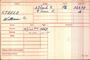 MEDAL CARD.STEELE