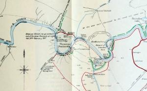 Map Kut and Hai salient 1917.02