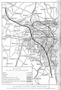 Map of Cambrai Nov 1917
