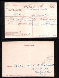 Medal Card.Coatsworth