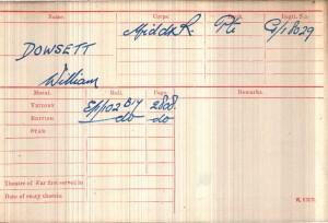 Medal Card.Dowsett