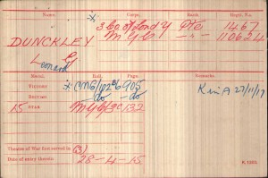 Medal Card.Dunckley