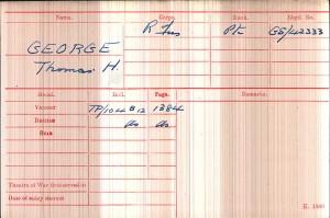 Medal Card.GEORGE